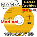 MAM-A (Mitsui) DVD-R 120min 4.7gb, Medical Gold Archive - 83484 - 200 Pack