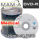MAM-A Medical DVD-R 120min 4.7gb, with MAM-A Logo - 163151 - 200 Pack
