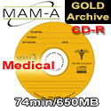 MAM-A (Mitsui) CD-R Medical Gold Archive - 40214 - 200 Pack