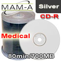 MAM-A Medical CD-R 80min 700MB, White Thermal Printable - 43761 - 200 Pack