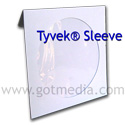 Tyvek CD Sleeve with Window and Flap 100 pack